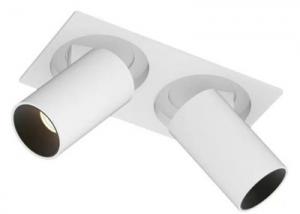 WM0224C-12WX2 Blanco Ajustable doble cabeza foco led rotación 350 °-1