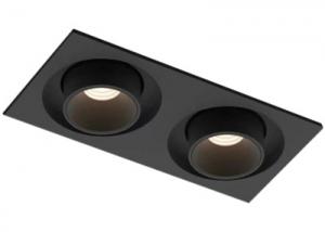 WM0224C-12Wx2 Negro ajustable interior LED Luces Cuadrado Alto Brillo mazorca foco led doble cabeza retráctil Rotación horizontal 350 grados y Rotación vertical 75 grados-1