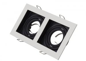 WM0304 Montaje empotrado Doble cabezal ajustable GU10 MR16 marco Soporte accesorios cuadrados